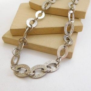 Retro Mod Silver Cable Chain Link Necklace